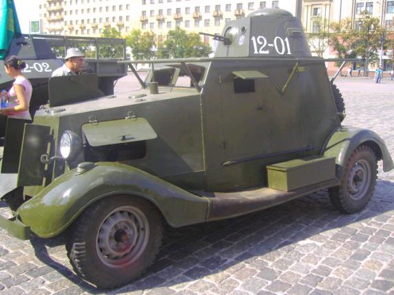 Бронеавтомобиль БА-20 на базе ГАЗ-М-1